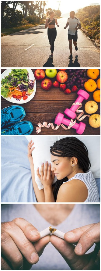 Couple Running-Food and Fitness-Woman Sleeping-Hands Breaking a Cigarette
